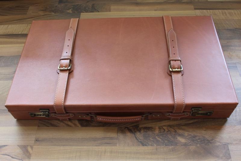 1_Διπλή δερμάτινη βαλίτσα κωδ.21
