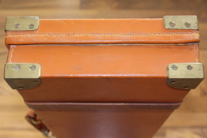 6_Βαλίτσα από δρυ και δέρμα H&H κωδ.24